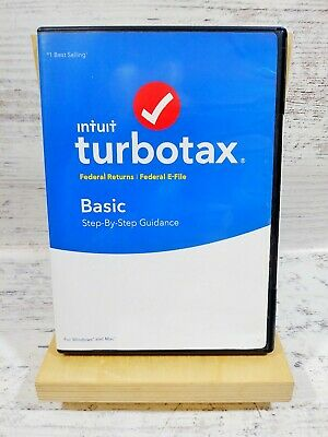 2018 turbotax Basic | Federal Returns ONLY, Federal E-File | PC & Mac NEW
