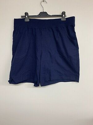Cotton Jersey Women's Pocket Shorts, Just My Size 2X, Navy Blue, New Without Tag