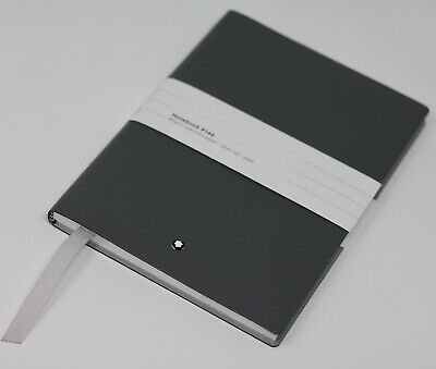 Mont Blanc Notebook Black Grey Flannel Diary Silver Lined 85gm Meisterstuck A5