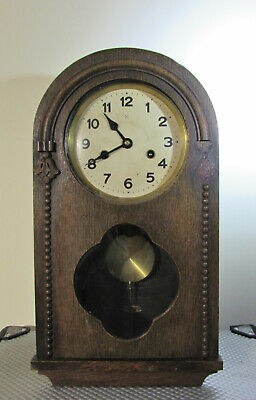 Vintage German Chiming Wall clock by HAC 1930's
