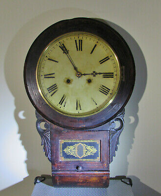 Two Antique American Wall clocks New Haven Tavern Clock & Ogee Clock