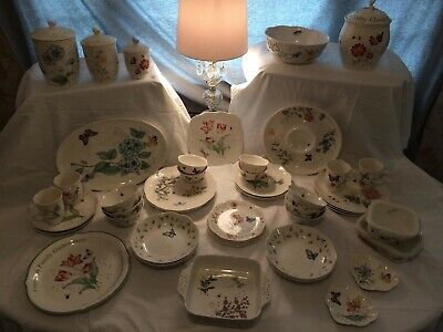 Lenox Butterfly Meadow 52 Piece China Set, Outstanding Selection of Rare Pieces!