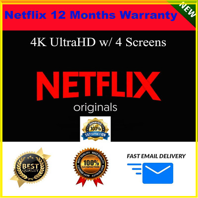 Netflix Gift & Warranty: 4K UltraHD | 4 Screens | 1 Month | 100% Personal