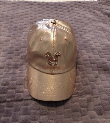 Disney Parks Minnie Mouse Briar Rose Gold Hat Mickey Icon Baseball Hat Cap Adult