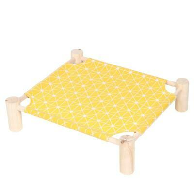 Portable Indoor Pet Bed Dog Cat Elevated Raised Sleeping Cooling Cot Yellow