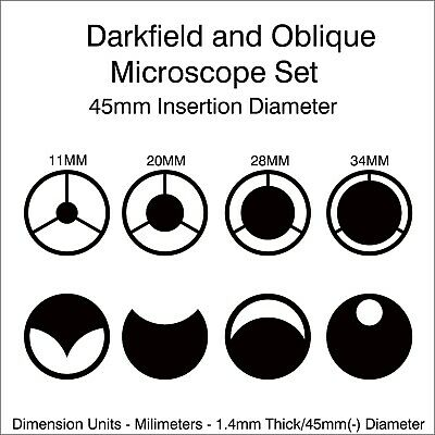 Microscope 45MM Darkfield and Oblique Set