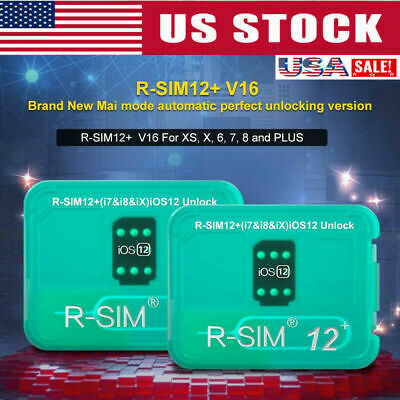 R-SIM12+V16 Nano Unlock Card RSIM for iPhone XS MAX/XR/XS/8/7/6 4G iOS 12 11 US