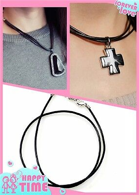 DIY 5 Pcs PU Leather String Chains Pendant Necklace Clasp Rope Cord Jewelry
