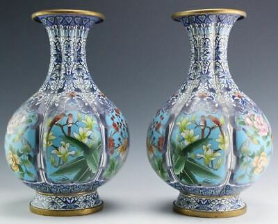 Pair of large antique Chinese cloisonne vases (last listing)