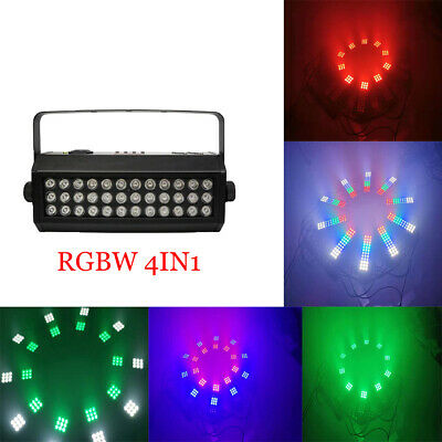 LED 72W Strobe Light RGBW 4IN1 Subsection Stage Lighting piecewise LED Wash DJ