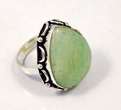 Amazonite .925 Silver Plated Handmade Ring Size-8.75 Jewelry JC4414