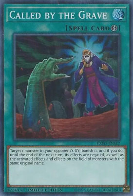YUGIOH! Called by the Grave EXFO-ENSE2 - Super Rare - Limited Edition NM!