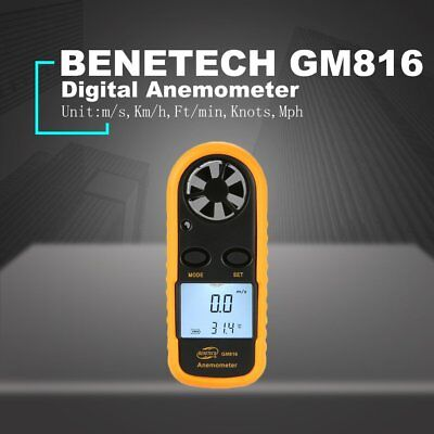 BENETECH GM816 Digital Anemometer Thermometer Wind Speed Meter Airflow Gauge wa