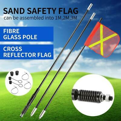 3M High Sand Safety Flag 4WD Off-road Touring 4X4 Warning Simpson Desert AU