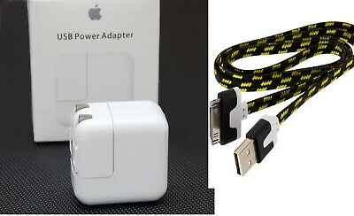 Original 12W USB Power Adapter wall charger for Apple iPad 2 3 + USB Cable