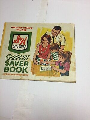 Vintage S&H GREEN STAMPS Quick Saver Book Sperry and Hutchinson Company