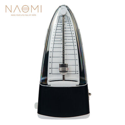 Aroma Traditional Wind Up Mechanical Metronome For Piano Guitar Metronome Black