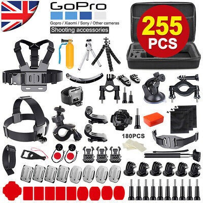 255PCS GoPro Hero 7 6 5 Accessories Kit Action Camera Mount Accessory Bundle+Bag