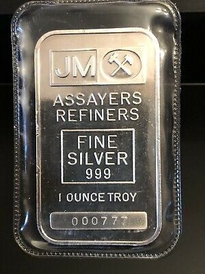 Rare TD bank 1 oz fine silver .999 JM bar Johnson Matthey lucky #777 Sealed!