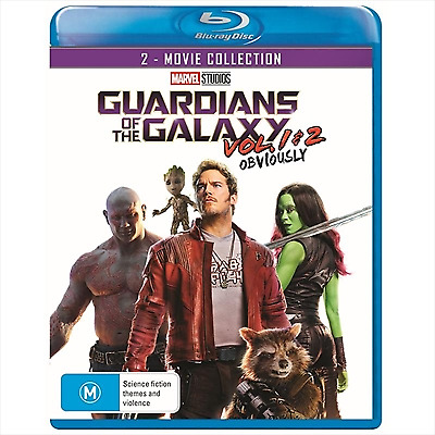 Guardians of the Galaxy - 2 Movie Coll (Blu-ray, 2018) (Region B) New Release