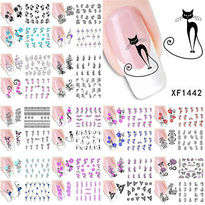 50 Sheet Water Transfer Nail Art Sticker Flower Long Vine Lace Decal XF1422-1469
