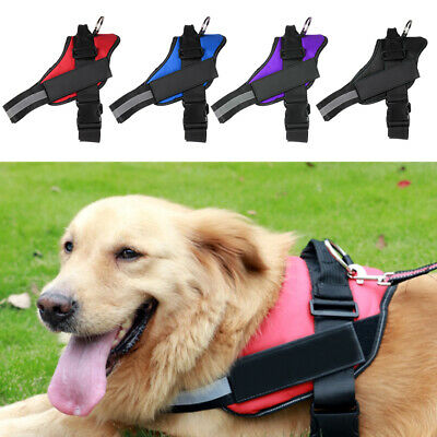 Adjustable Strong Dog Harness Outdoor Adventure Pet Vest Padded Handle XS/S/M/L
