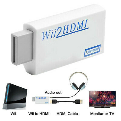 1080p Wii to HDMI Converter Mini 3.5mm Adapter Wii2HDMI Audio HD Video Output