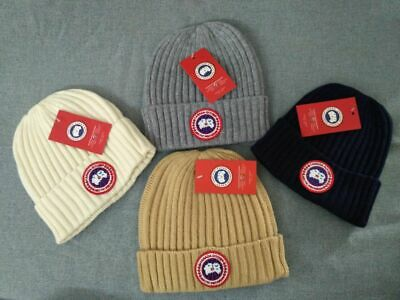 New Canada Goose Patch Logo Beanie Hat Winter Cap For Men or Women