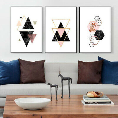 Nordic Geometric Picture Unframed Wall Art Craft Canvas Painting Home Decor HOT