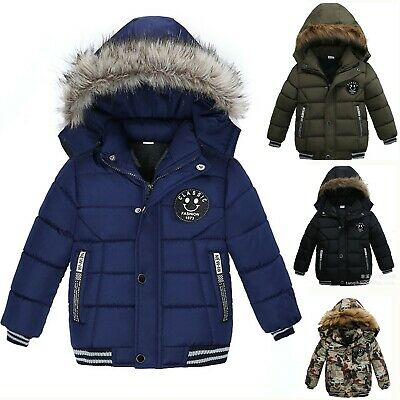 sports shoes 9a74c f7025 KINDER JUNGE WINTER Baumwolljacke Warme Dicker Hoodie Kapuzenpullover Mantel