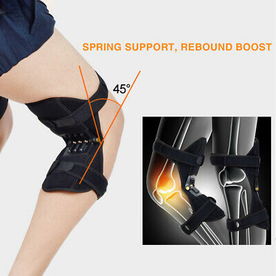1Pair Patella Booster Spring Knee Brace Pads Support for Mountaineering Squat US