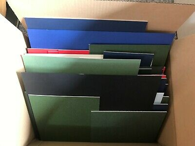 Box Of 48 Mountboard Card Off Cuts  Offcuts Scraps Assorted Colours & Sizes