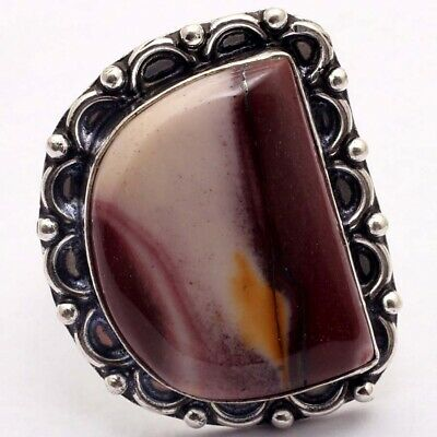 ZG5237 Mookaite & 925 Silver Plated Handmade Ring US 8