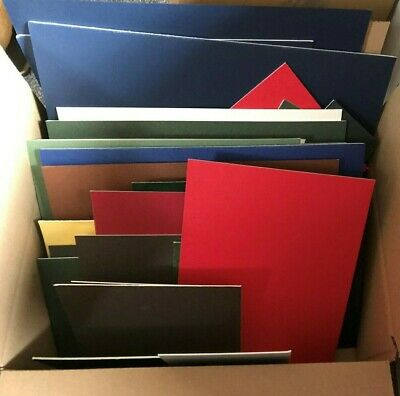 Box Of 50 Mountboard Card Off Cuts  Offcuts Scraps Assorted Colours & Sizes
