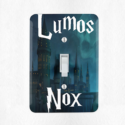 Lumos Nox Light Switch Cover Plate Duplex Outlet Harry Potter Wizard New