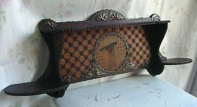 Frankreich Wandregal Jugendstil Regal Holz Messing art nouveau wall shelf rack