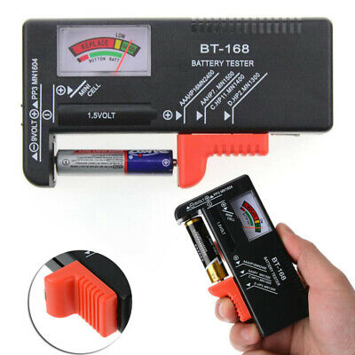 Digital LCD Battery Capacity Tester Volt Checker For 9V 1.5V AA AAA Cell BT-168D