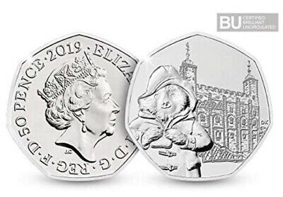 2019 UK Paddington at the Tower of London 50p Coin BU **IN HAND**