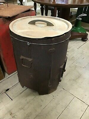 Antique Metters Large Copper boiler pot with stand lid incomplete