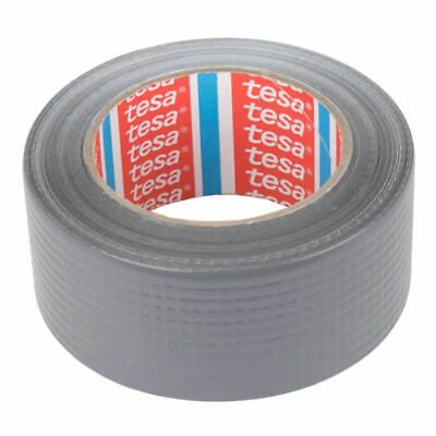 Original Tesa Duct Tape Silver Woven Tape Gaffer Duct Tape - 50m x 50 mm/4610
