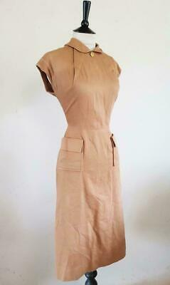 Wartime Original Ww2 1940S Vtg Landgirl Wren Dita Wiggle Dress Goodwood 10 S