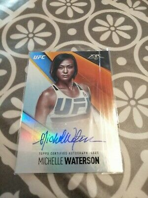 """Michelle """"Karate Hottie"""" Waterson Topps Fire Autograph Trading Card /199 UFC MMA"""