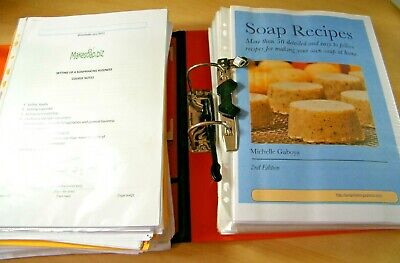 Soap Making and Gentleman's Skincare Products Training Manuals, Formulas, etc
