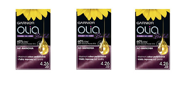 Garnier Olia 4.26 Violet Red Permanent Hair Dye 3x Dyes *IMPORT STOCK*