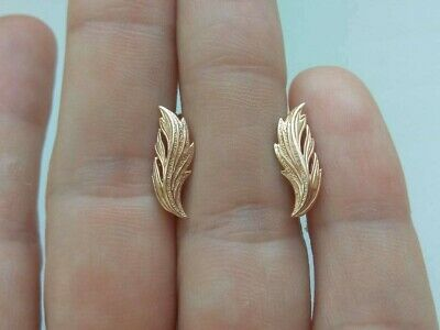 vintage EARRINGS GOLD 14K 585 Star stamp Soviet Russian USSR 2.52g ORIGINAL OLD
