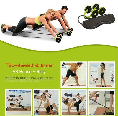 Power Roll Ab Roller Wheel Trainer For Abdominal And Full Body Fitness Workout