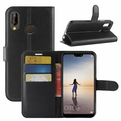 Wallet Leather Flip PU Shockproof Card Holder Case Cover for Huawei P20 Pro Lite