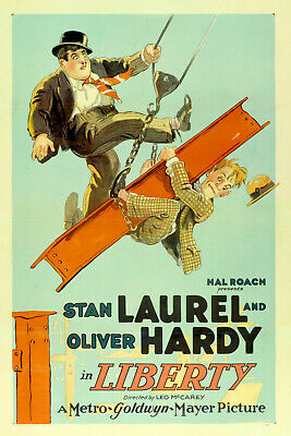 Laurel And Hardy Liberty 400Ft Super 8 B/W Silent Cine Film 8Mm