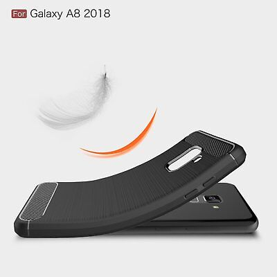 Carbon Fiber Heavy Duty Shockproof Case Cover For Samsung Galaxy S8 S9 S10 Plus