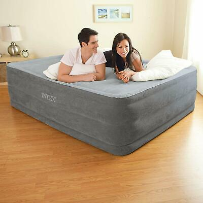 Queen Size Air Bed Mattress 22 Inches With Built-In Electric Pump Raised No Leak